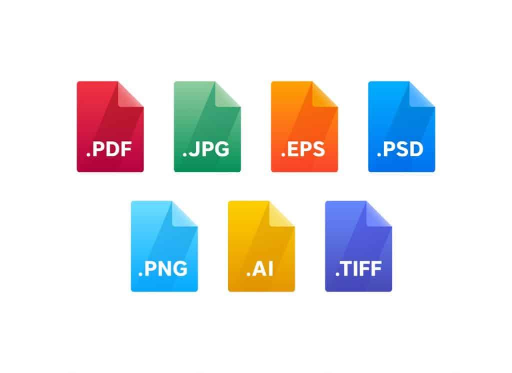 file setup guide - file type icons